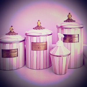 Mackenzie Childs Bath House Canisters